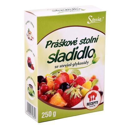 FAN Práškové stolní sladidlo STEVIA 24 x 250 g